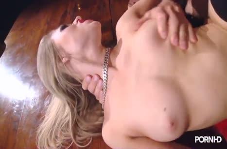 Пошлая блондинка устроила с мужем БДСМ порно #5